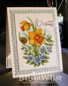 The Buzz: Day 17 - 30 Day Coloring Challenge with #TheDailyMarker featuring Dancing Daffodils, a digital stamp from #PowerPoppy More details on my blog. Click the pic!