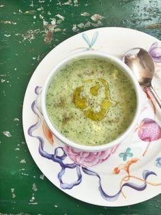 Vellutata di broccoli, porri e ceci