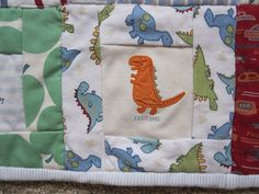 Baby clothes quilt square 3