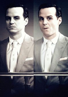 "Moriarty- on the second gif he's giving a look like ""Well, that's a funny and embarrassing problem!"""