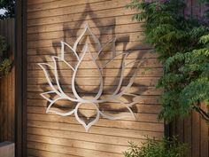 Lotus Flower Large Outdoor Metal Wall Art Garden Sculpture | Etsy Modern Outdoor Wall Art, Outdoor Walls, Outdoor Metal Wall Decor, Outdoor Swings, Outdoor Living, Outdoor Decor, Silver Wall Art, Silver Walls, Word Art