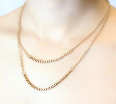 3.86! Simple and Elegant Golde plated Two Layers Chain by FACIOZONE
