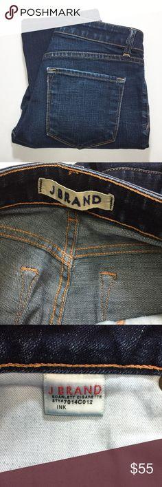 "J BRAND SCARLETT CIGARETTE JEANS 8"" rise, 29"" inseam. EUC. Color is Ink. J Brand Jeans Straight Leg"