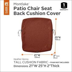 Classic Accessories Montlake Fadesafe 25 X 20 In Patio Dining Seat
