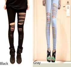 Cheap Sexy Black Cotton Hole Slim Leggings For Big Sale!Sexy Black Cotton Hole Slim Leggings, This is the first choice for street shooting star Cute Leggings, Sexy Stockings, Leggings Fashion, Types Of Fashion Styles, Black Cotton, Tights, Socks, Slim, Clothes For Women