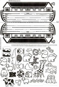 Noah's Ark Craft This folded paper envelope with ark animals inside will delight children. Easy to assemble. Sunday School Activities, Bible Activities, Sunday School Lessons, Sunday School Crafts, Bible Story Crafts, Bible Crafts For Kids, Bible Lessons For Kids, Preschool Bible Crafts, Bible Stories