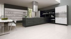 black-white-kitchen, topical, current, immediate and topical kitchen, refined, elegant exemplary modernistic kitchen design