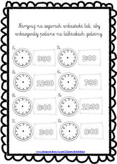 zegar Math For Kids, Maths, Montessori, Children, Young Children, Boys, Kids, Child, Kids Part