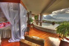 Not only a room with a view with a private infinity pool as well.  What could be more romantic?  Jade Mountain St. Lucia