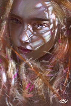 Digital Painting Inspiration # 014 – Übermalbar – My Great Pins Digital Art Girl, Digital Portrait, Chica Cyborg, Painting Inspiration, Art Inspo, Graffiti, Portraits, Freelance Illustrator, Digital Illustration