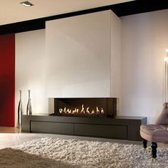 LINEAFIRE Fireplaces 3 Sided 150 - Decoration Fireplace Garden art ideas Home accessories Fireplace Tv Wall, Linear Fireplace, Modern Fireplace, Fireplace Surrounds, 3 Sided Fireplace, Bioethanol Fireplace, Living Room Tv, Living Room With Fireplace, Contemporary Fireplace Designs