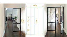 Custom made internal steel framed French door Steel Frame Doors, Steel Doors And Windows, Mitered Corners, Building Structure, French Doors, Locker Storage, Minimalism, French Style, Australia