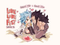 fuckyeahgajevy: #gajevylovefest ✿ August 15th - August 21st Fairy Tail Levy, Natsu Fairy Tail, Fairy Tail Art, Fairy Tail Ships, Fairy Tales, Fairytail, Nalu, Wattpad, Gajeel Et Levy