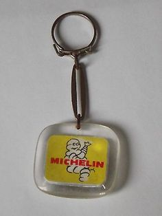 French Vintage Michelin Tires Emblem Logo Keychain