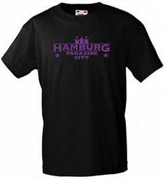 HAMBURG PARADISE CITY T-SHIRT EXTREM COOLES LILA/PURPLE MOTIV VERSANDKOSTENFREI