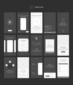 Wireframe mobile UI Kit by Unidack Design on Creative Market - Design Web Design, App Ui Design, Website Design Layout, User Interface Design, Design Layouts, Flat Design, Graphic Design, Ui Kit, Ux Wireframe
