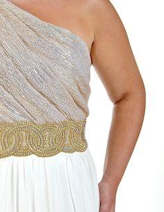 Plus Size Grecian Evening Dress, , Formal Dresses, vendor-unknown, Elohai Plus Size Boutique - 1
