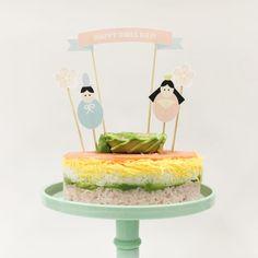 ひな祭りパーティーに!かわいいちらし寿司ケーキトッパーを無料ダウンロード|by ARCH DAYS編集部 / ARCH DAYS