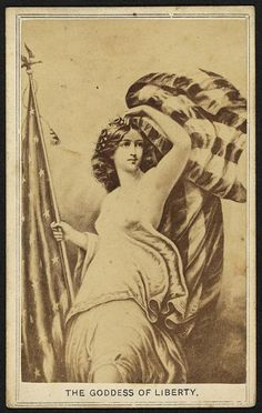 The Goddess of Liberty [between 1860 and 1865] Gladstone Collection of African American Photographs, Library of Congress Prints and Photographs Division.