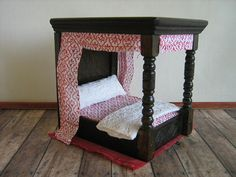 Vintage A. Barton & Co. Tudor Tester Bed in by TheToyBox on Etsy