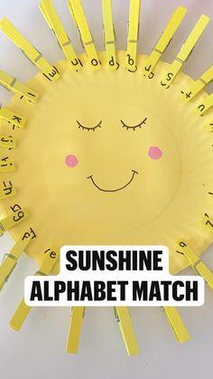Sunshine  Alphabet Match