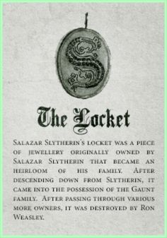 Slytherin Relic: The Locket