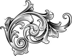 View top-quality illustrations of Baroque Ornament. Find premium, high-resolution illustrative art at Getty Images. Filigrana Tattoo, Filagree Tattoo, Engraving Art, Poses References, Scroll Pattern, Victorian Design, Ornaments Design, Filigree Design, Elements Of Art
