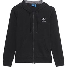 ADIDAS ORIGINALS Shell Zipped Black // Zipper hoodie (270 BRL) ❤ liked on Polyvore featuring tops, hoodies, embroidered hooded sweatshirts, hooded sweatshirt, zippered hooded sweatshirt, hooded pullover and pattern hoodie