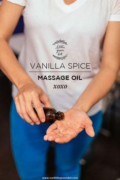 It's getting hot in here! Vanilla Spice Massage Oil Recipe
