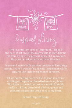 Affirmation - Inspired Living by CarlyMarie