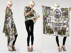 Chili's Home 100% Large Silk scarf