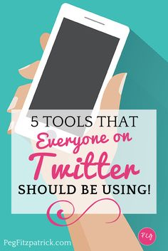 Super charge your Twitter account with these 5 tools everyone on Twitter should be using. Pin this for later!
