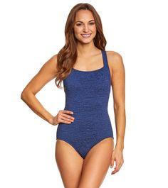 Penbrooke Krinkle Active Back Chlorine Resistant One Piece Swimsuit