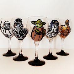 star wars wine glasses