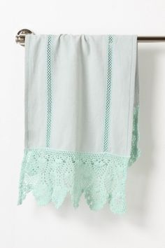 Ceri Hand Towel - Anthropologie.com - would love some dish or hand towels with a beautiful crochet lace edging like this