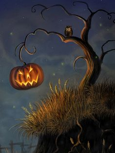 Want to discover art related to halloween? Check out inspiring examples of halloween artwork on DeviantArt, and get inspired by our community of talented artists. Retro Halloween, Halloween Chat Noir, Theme Halloween, Halloween Trees, Halloween Images, Halloween Cards, Holidays Halloween, Halloween Pumpkins, Halloween Night
