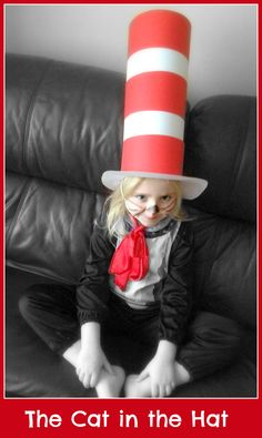 The Cat in the Hat - a really easy and cheap costume to make #Halloween #suess #DIY