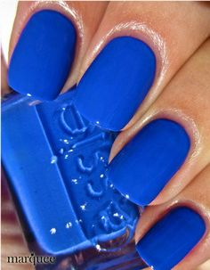 I wouldn't normally choose blue... but this is pretty hot.  Love how vibrant it is!    Essie Nail Polish (E819-Butler Please) Winter Leading Lady Collections 2012 NEW