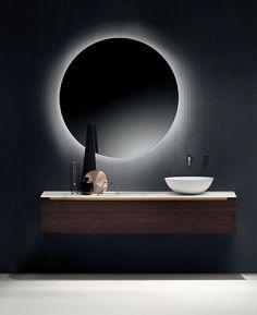Modern LED Bathroom Lights 28 Bathroom Lighting Ideas to Brighten Your Style Led Bathroom Lights, Best Bathroom Lighting, Bathroom Light Fixtures, Bedroom Lighting, Modern Bathroom Design, Bathroom Interior Design, Modern Design, Deco Led, New Toilet
