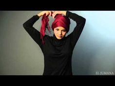 Shawl tutorial : Criss cross turban