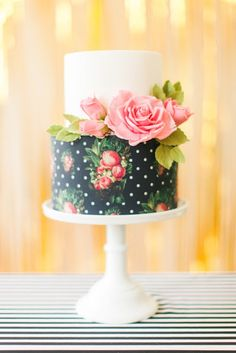 For a very individual wedding cake how about having it painted? Hand painted wedding cakes can even be done yourself if you're artistic