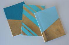 gold leaf notebooks DIY