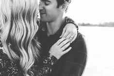 This is such an intimate engagement photo. <3