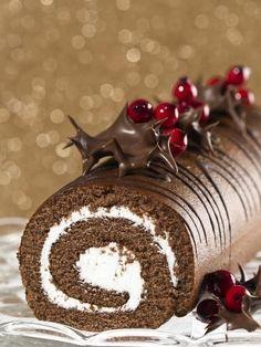 Recette Bûche aux marrons de Noël, notre recette Bûche aux marrons de Noël - aufeminin.com