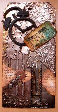 ❤ Tag Happy 2013-mixed media- art-Tim Holtz metal embellishments-DIY - craft & hobby- textural inspiration