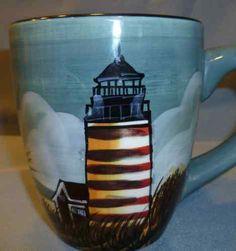 SAKURA Earthenware Lighthouse Mug David Carter Brown By the Sea. I love these dishes!