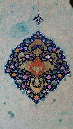 311 Likes, 12 Comments - Marya Islamic Motifs, Islamic Art Pattern, Persian Motifs, Pattern Art, Arabesque, Motif Oriental, Middle Eastern Art, Illumination Art, Islamic Paintings