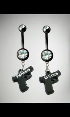 NEW BRAVE FIRE DEPARTMENT SHIELD FIREFIGHTER on 14g CLEAR CZ BELLY RING BARBELL