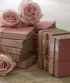 3 of my favorite things...books, roses and pink!