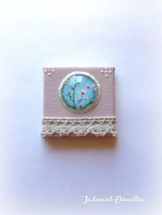 """Mini toile décorative série """" Songes de fleurs """" n°33 : Accessoires de maison par jademiel-etincelles"""